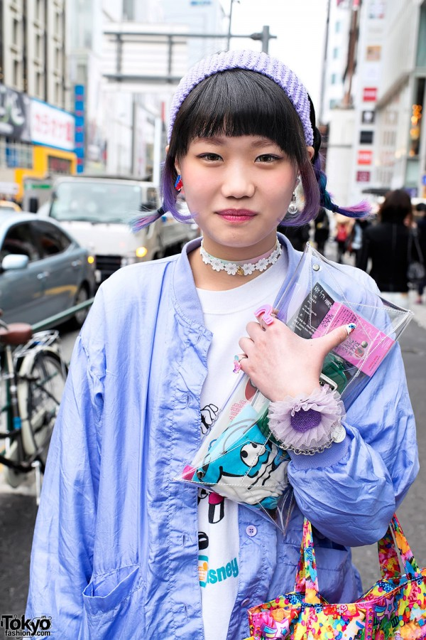 Flower Choker & Clear Clutch in Harajuku