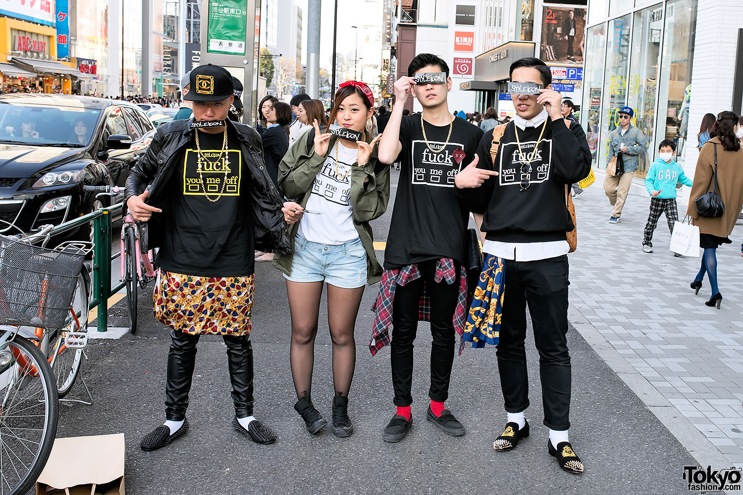 Style icon tokyo t shirts sweatshirts on the street in harajuku Japanese fashion style icon