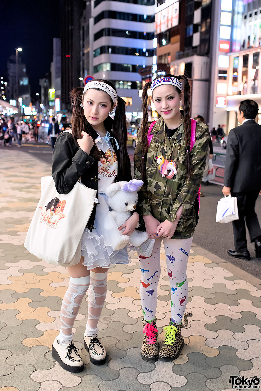 Harajuku Sisters w/ My Little Pony, Candy Stripper & Nadia Dinosaurs