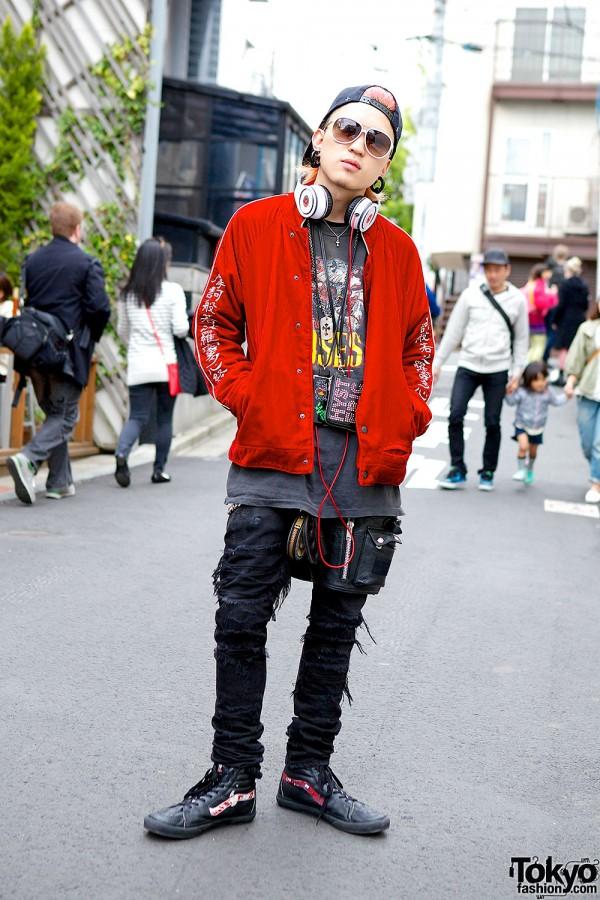 Guns N' Roses T-Shirt, Blackmeans & Chrome Hearts in Harajuku