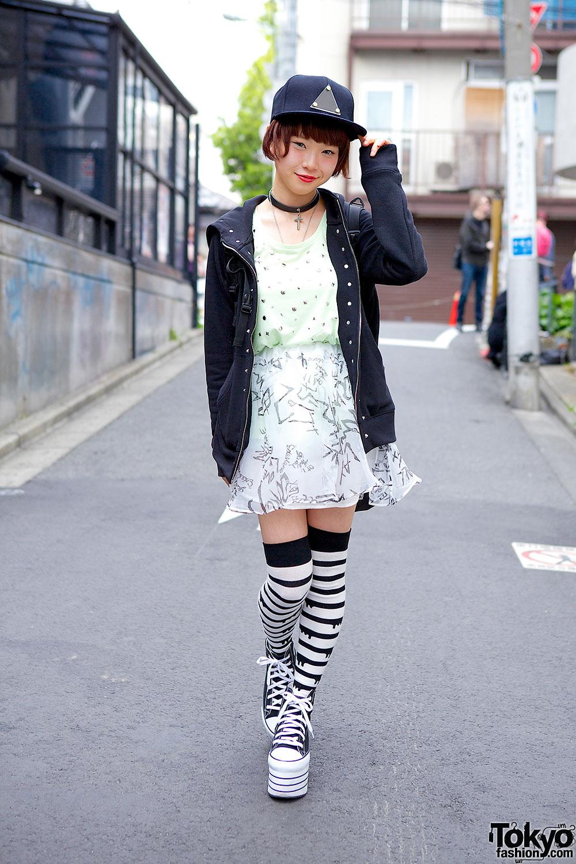 Pochi In Harajuku W Jouetie Striped Socks Platform Sneakers