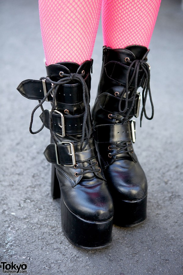 Demonia Lace-up Boots