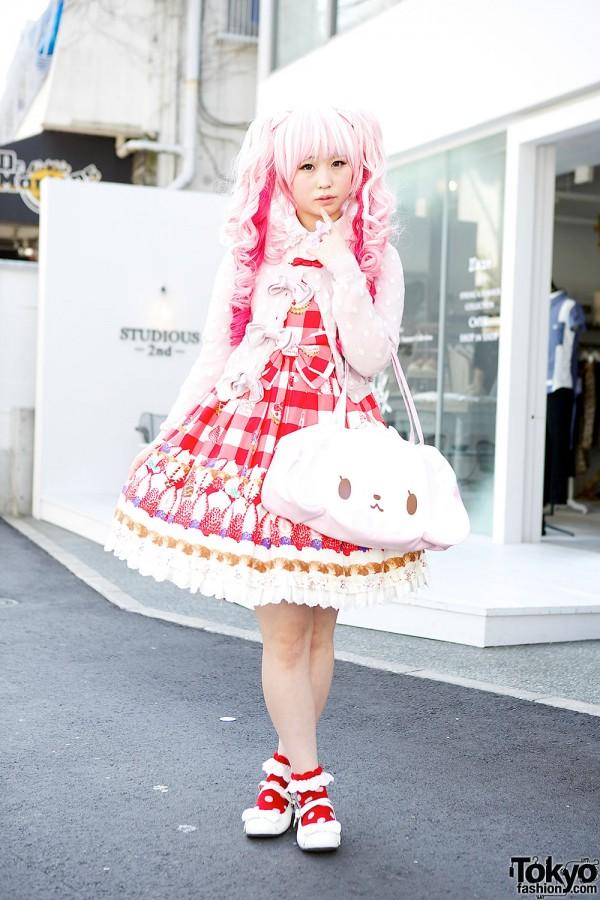 Kawaii Pink Twintails & Baby The Stars Shine Bright Gingham in Harajuku