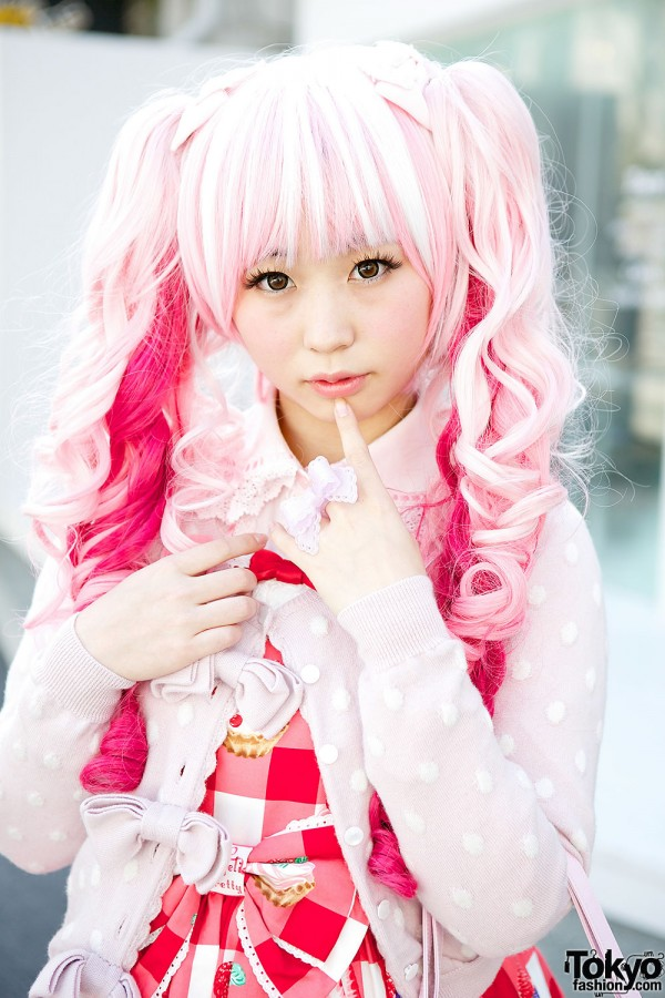 Cute Pink Sweet Lolita Hairstyle