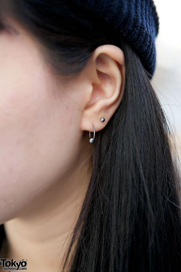 Earrings and piercings