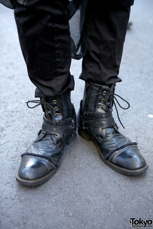 h.NAOTO Staffer's Lace-up Boots