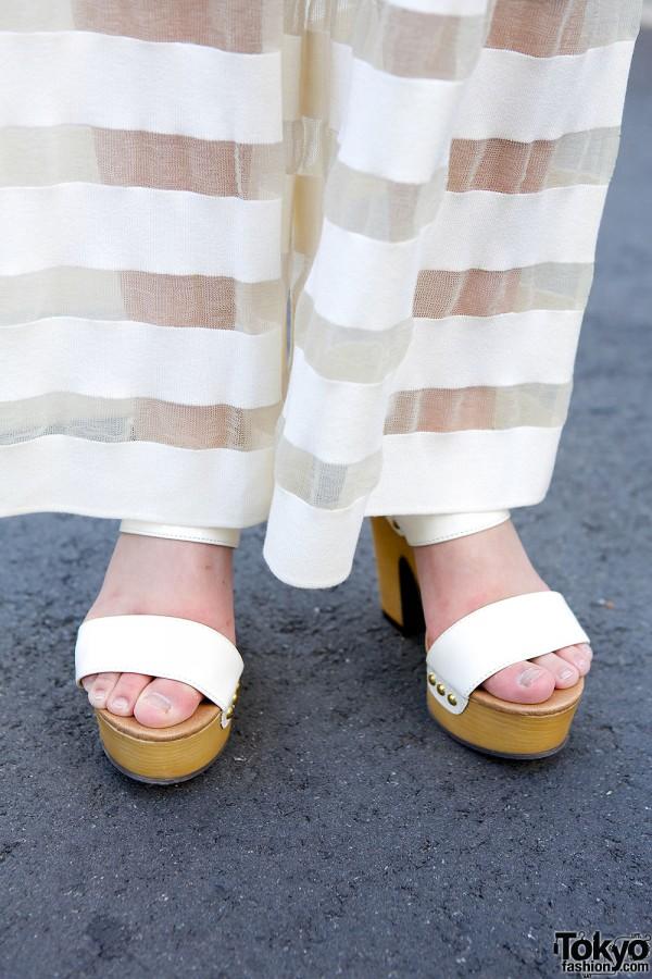 White Sandals in Harajuku