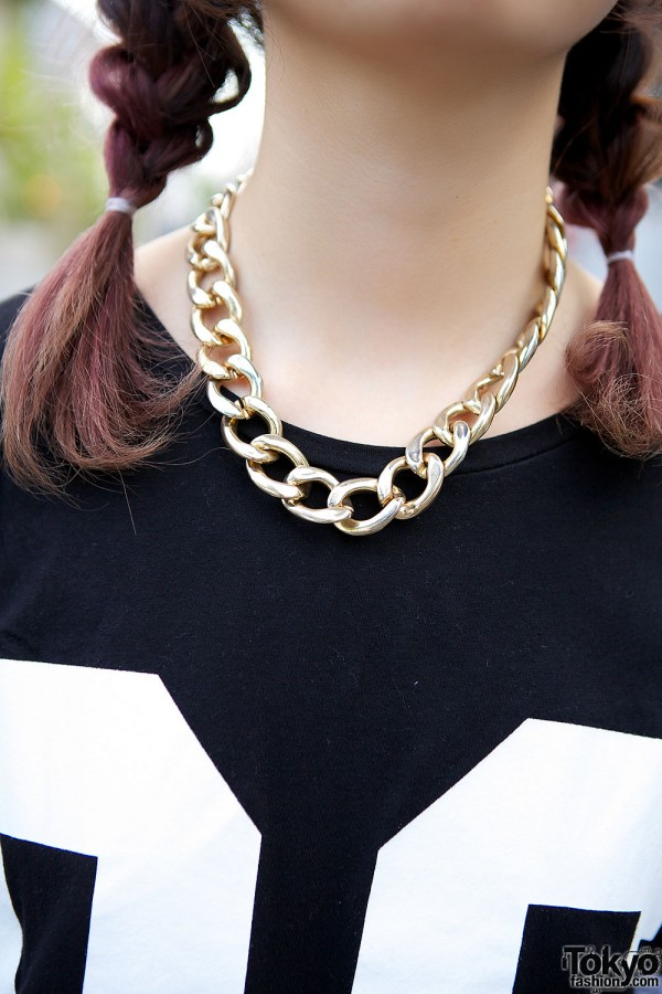 Chain Necklace in Harajuku