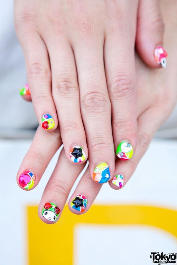Colorful Harajuku Nail Art