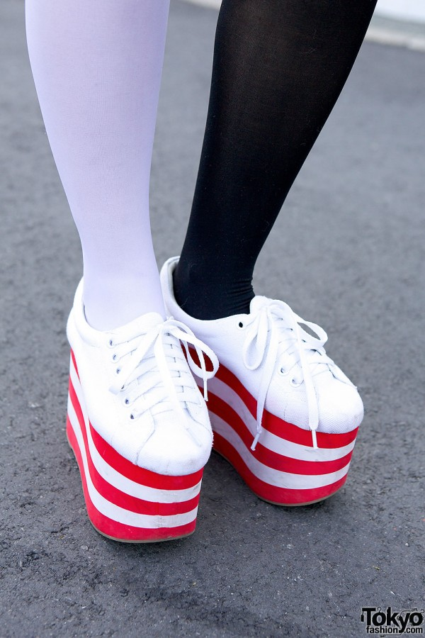 Lisamelody In Harajuku W Pink Blue Hair Amp Jeffrey Campbell Sneakers
