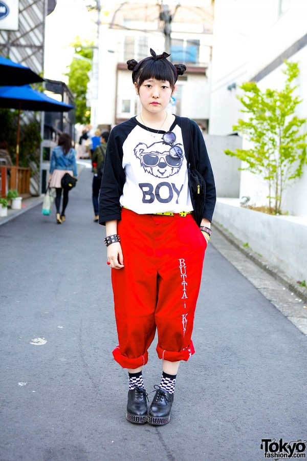 Joyrich & Red Pants in Harajuku