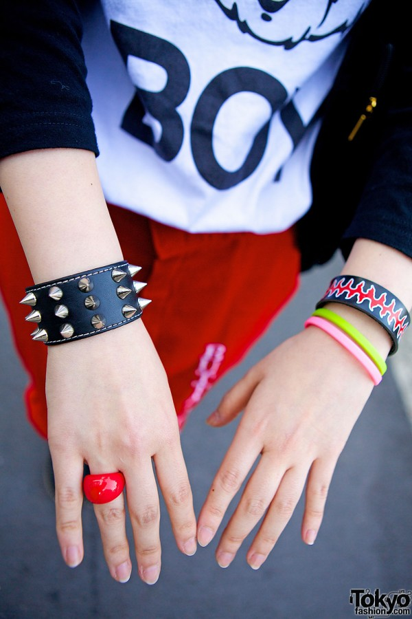 Spike & Colorful Bracelets