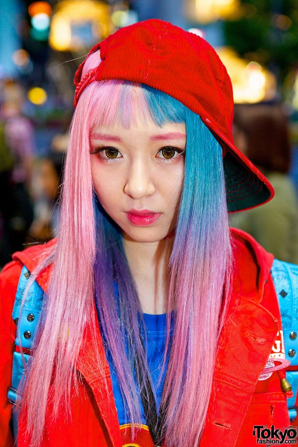 Eva Cheung's Pink-Blue Hair