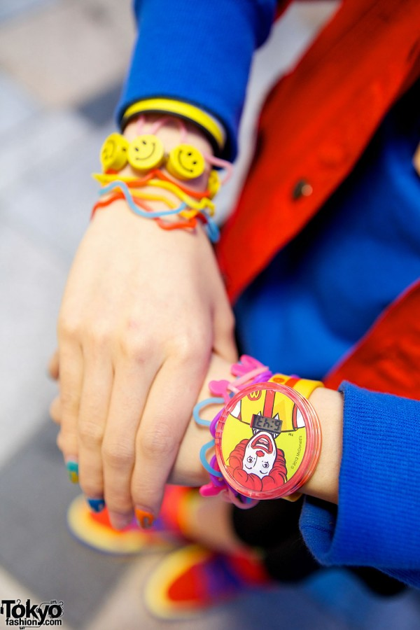 Kawaii Ronald McDonald Watch in Harajuku