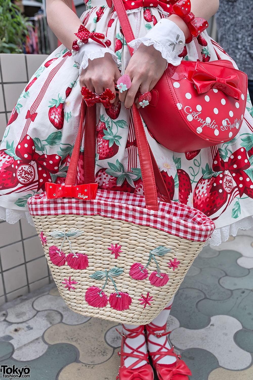 angelic pretty bag amp kawaii strawberry rings � tokyo
