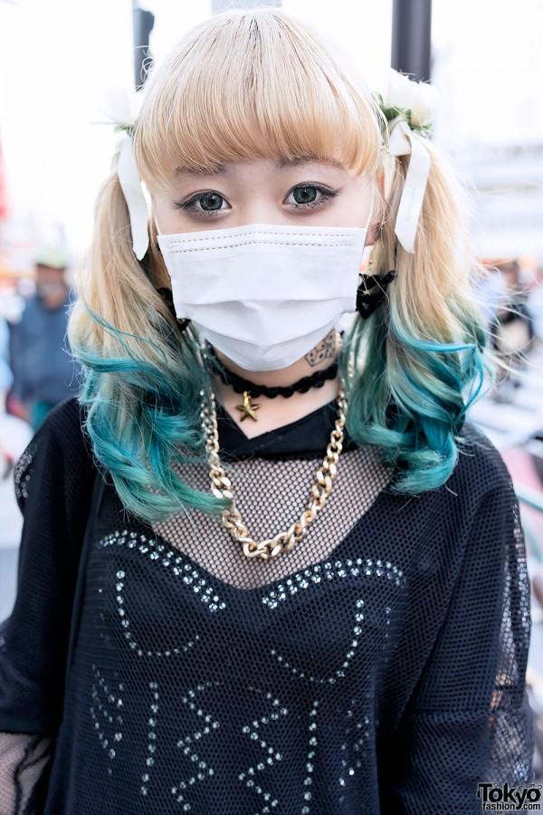 Aqua Dip Dye Hairstyle