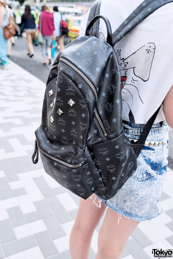 Black MCM Backpack in Harajuku
