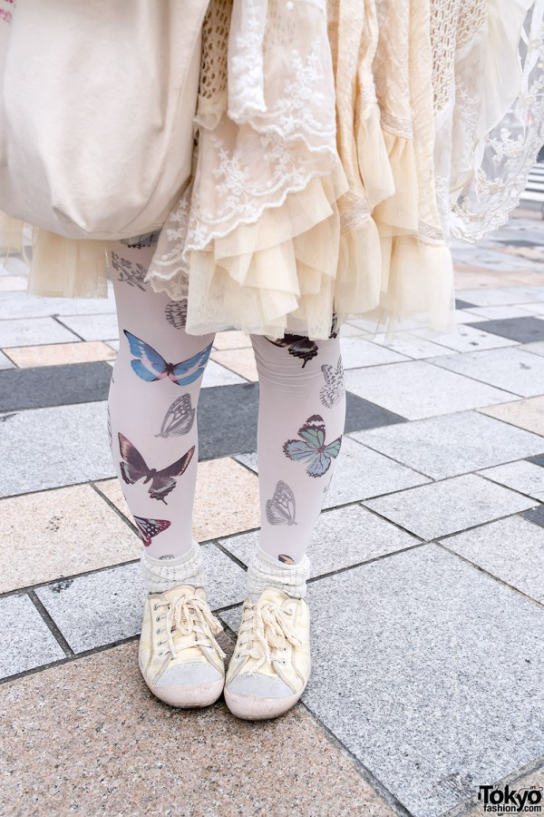 Butterfly Tights in Harajuku