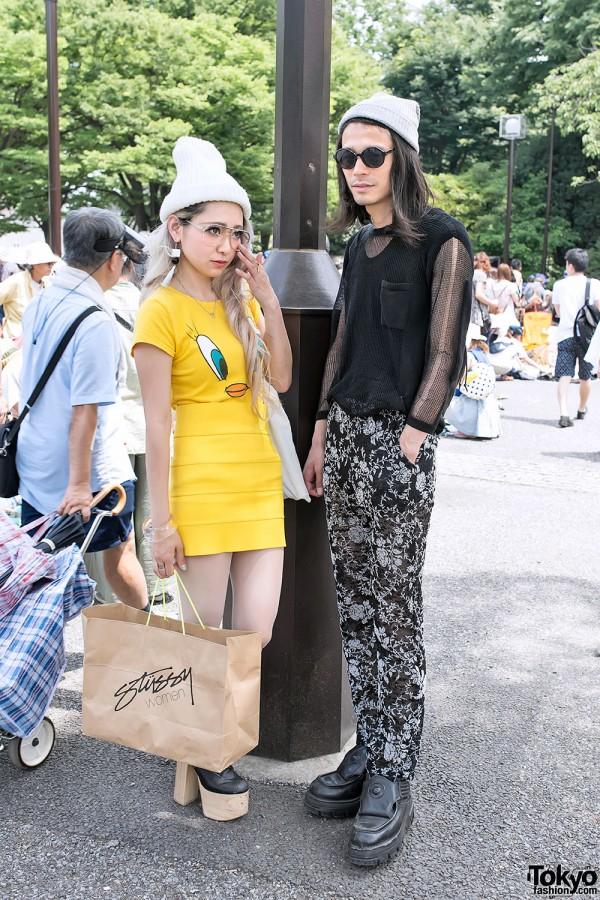 Tweety Bird Top & Miniskirt in Harajuku
