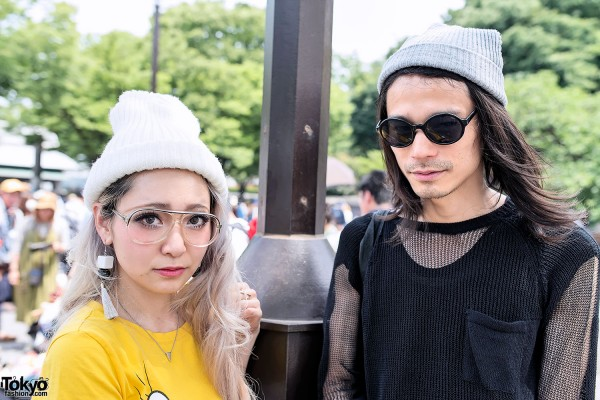 Cool Harajuku Girl & Guy at Yoyogi Flea Market