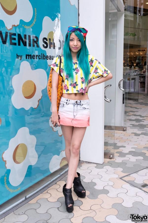 Aqua Hair & Joyrich Acid Wash Skirt