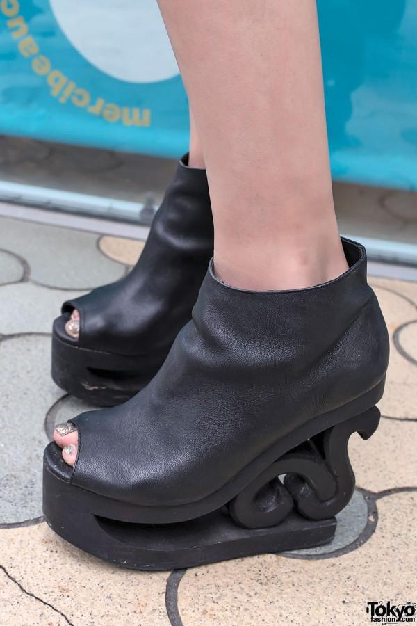 Black Jeffrey Campbell Skate Boots