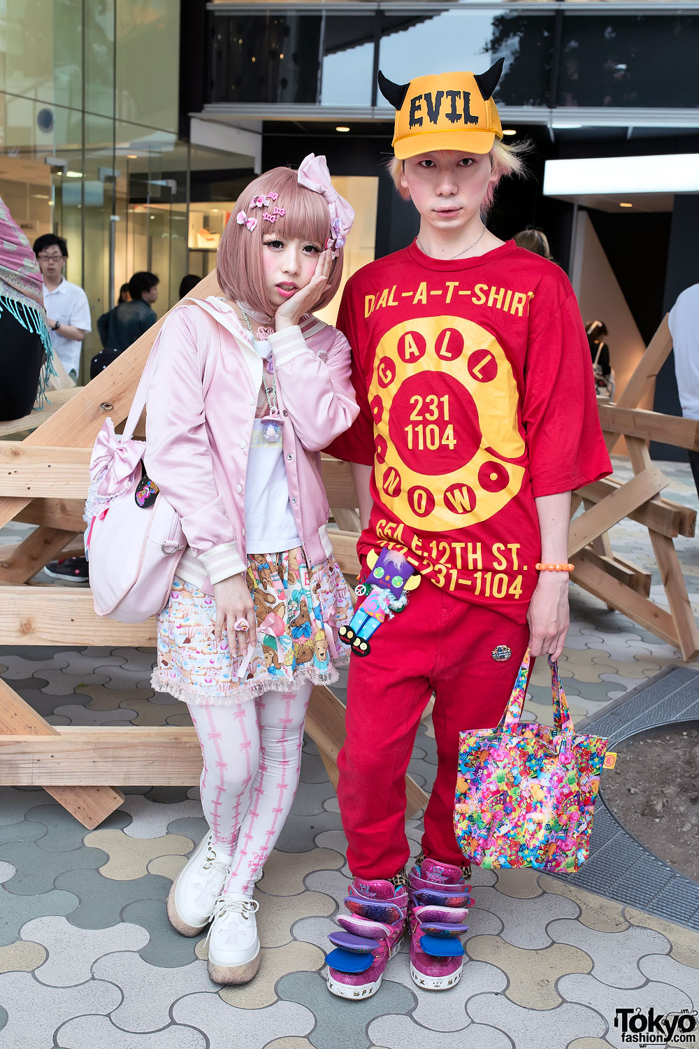 Colorful Harajuku Street Style w/ Nile Perch, Bows, Bears, Cupcakes & Evil