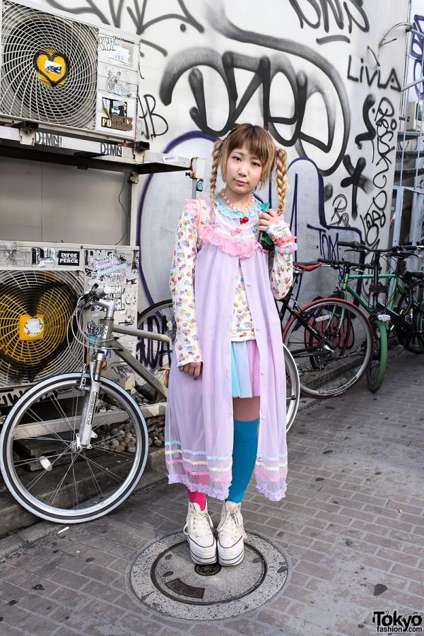 Kawaii Pastel Fashion on Cat Street in Harajuku
