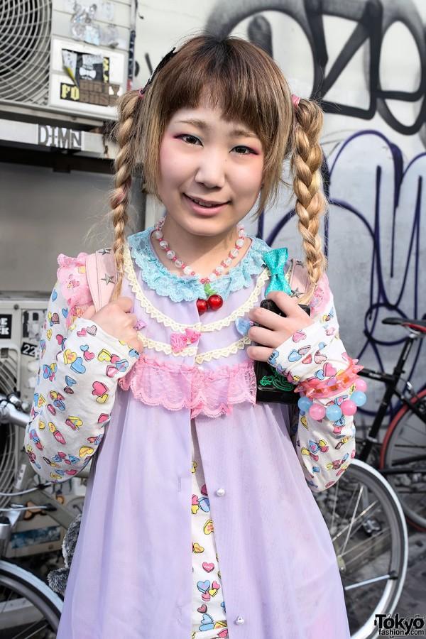 Cute Braids & Candy Hearts Fashion