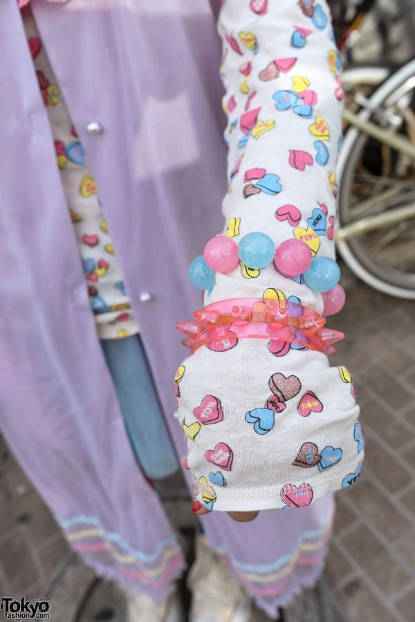 Pink Spiked Bracelet