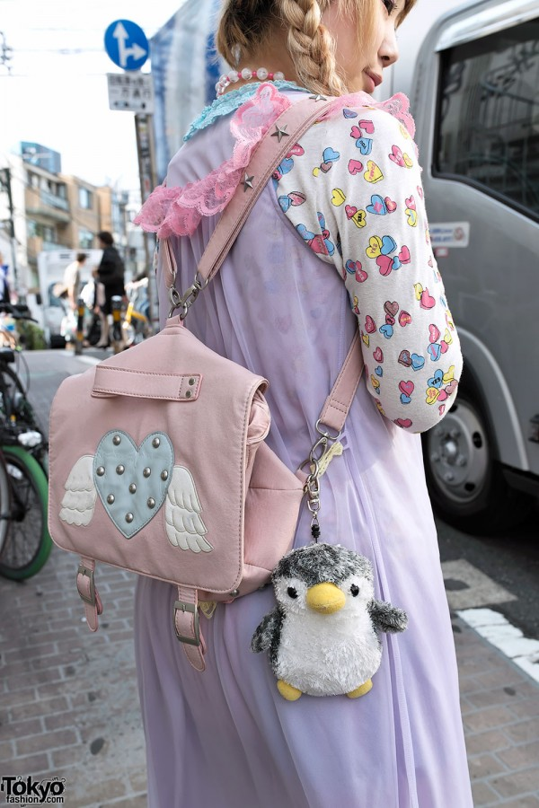 Pink Winged Backpack in Harajuku