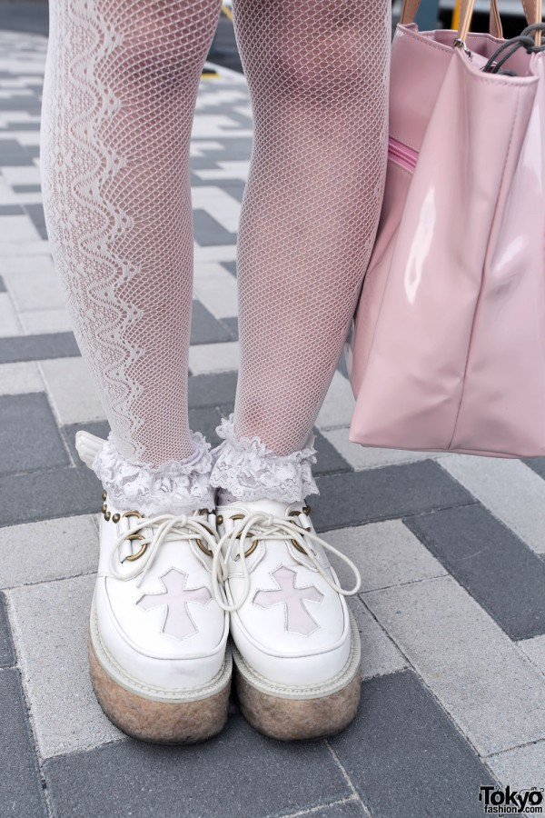 Winged Creepers & Fishnets in Harajuku