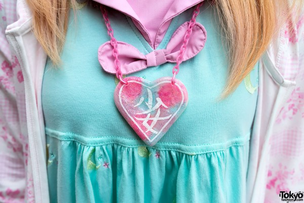 Cute Fairy Kei Heart Necklace by Moco