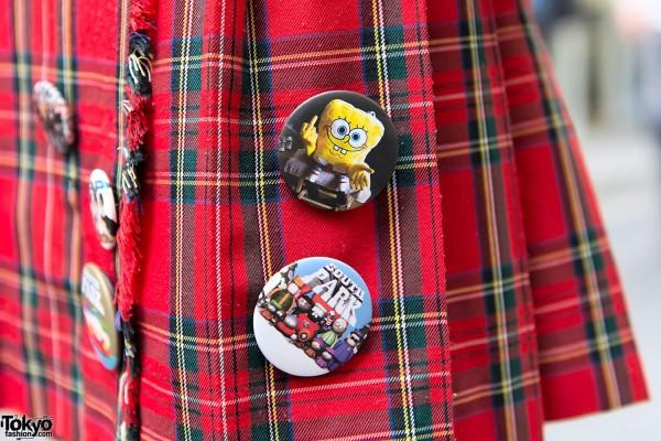 Sponge Bob x South Park Buttons
