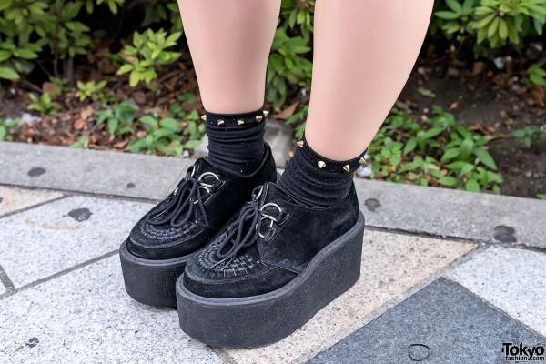 Tall Platform Creepers & Studded Socks