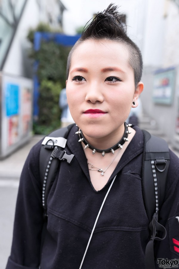 Mohawk Hairstyle & Spiked Collar