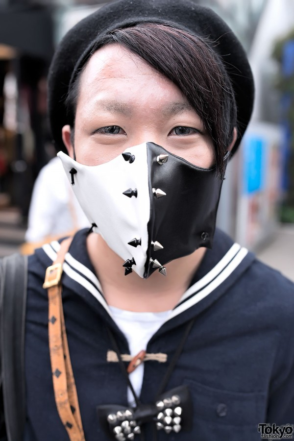 Spiked Mask Japanese Street Style