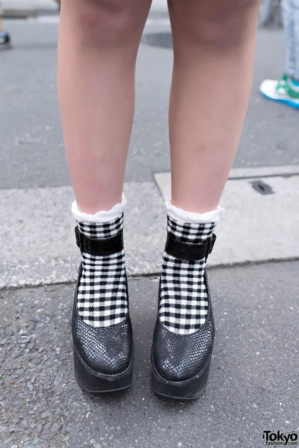Platforms & Checkered Socks in Harajuku