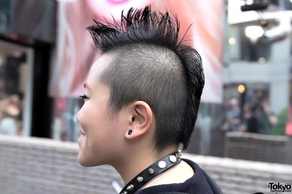 Japanese Mohawk Hairstyle & Ear Gauging