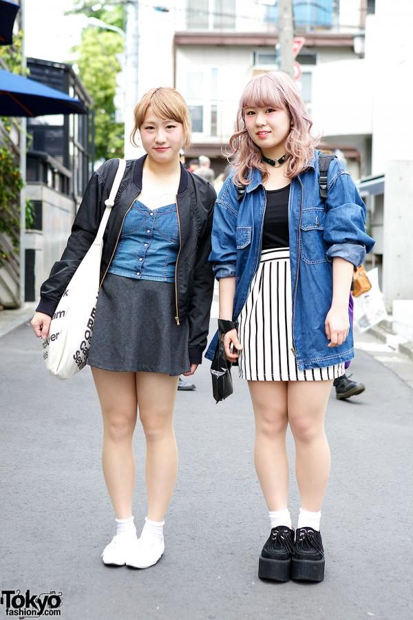 Mini Skirts & Denim w/ Chico, H&M, Bershka & Nadia Harajuku