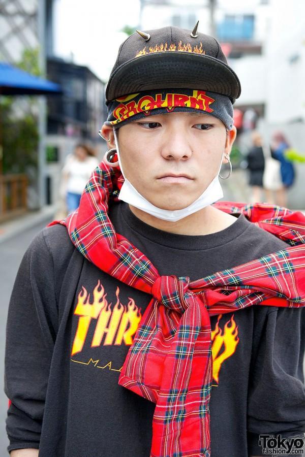 Thrasher T-shirt in Harajuku