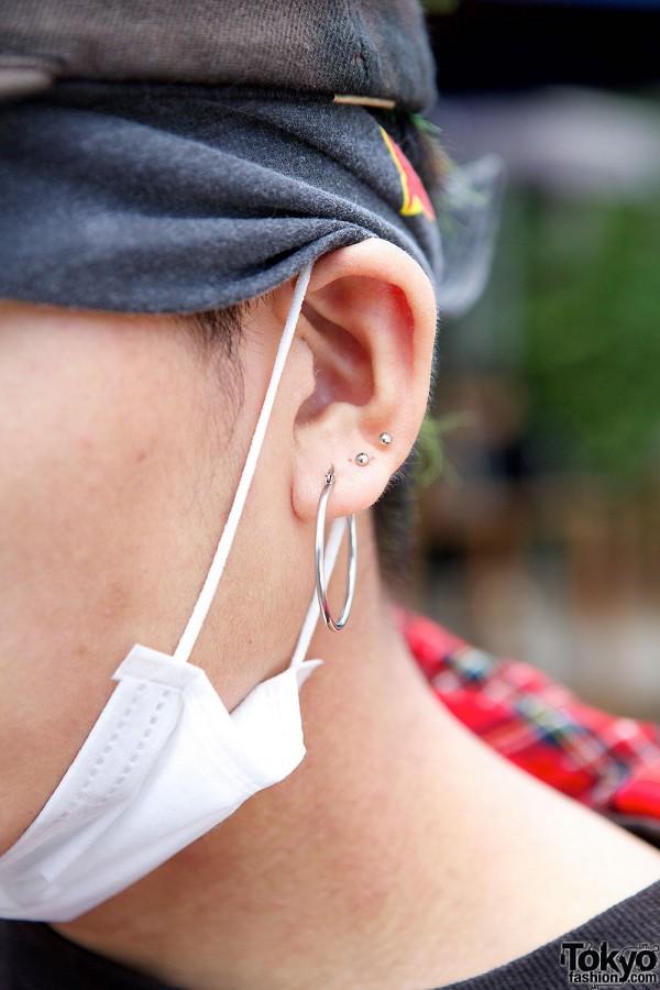Silver Earrings in Harajuku