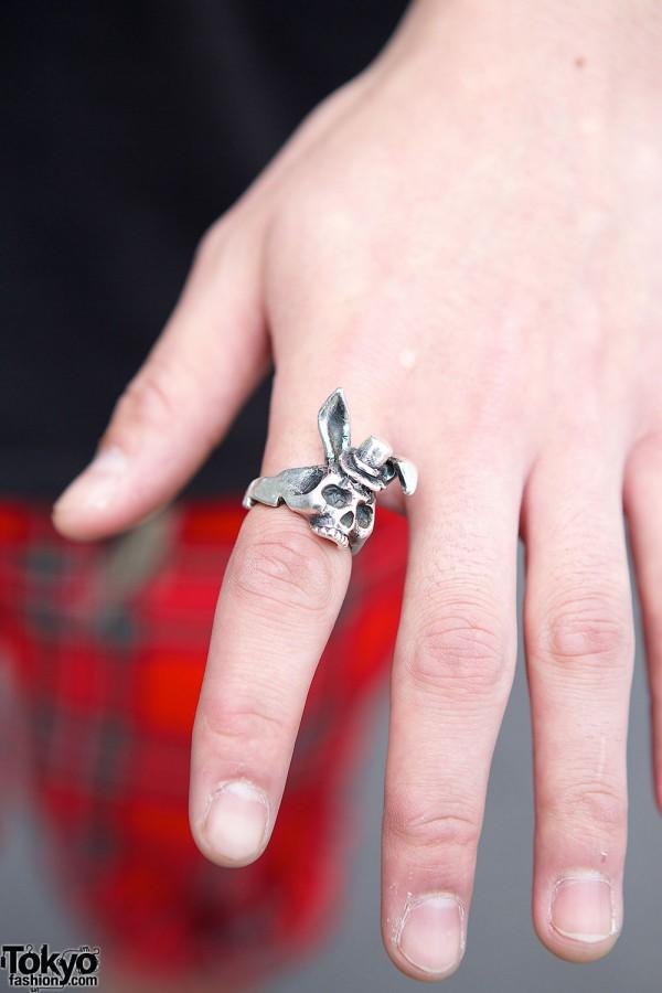 Alice Black Skull Ring