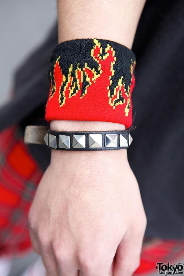 Studded Bracelet & Flames