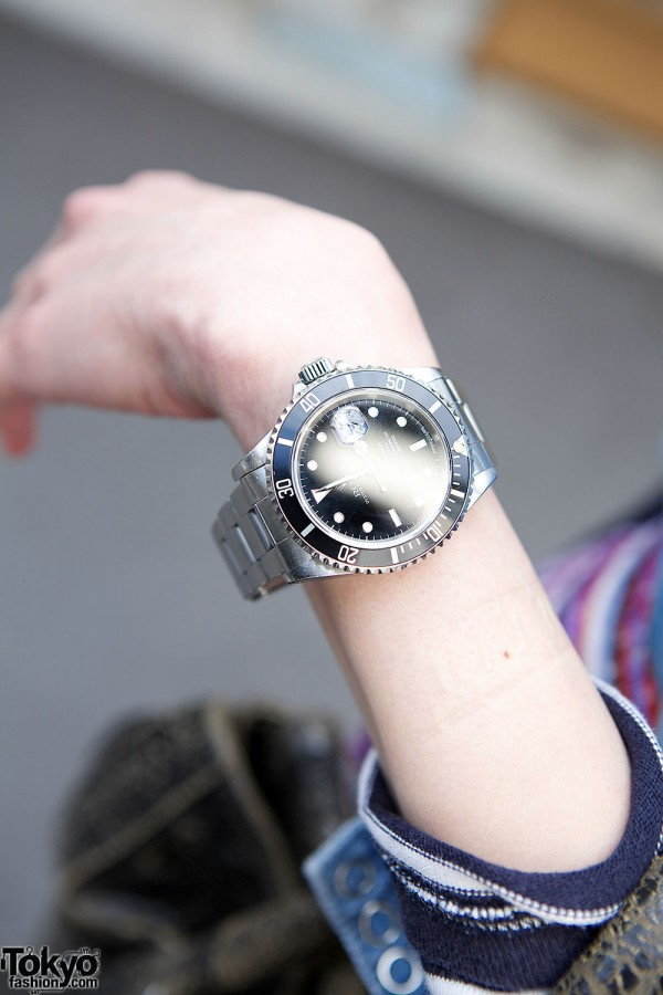 Rolex watch in Harajuku