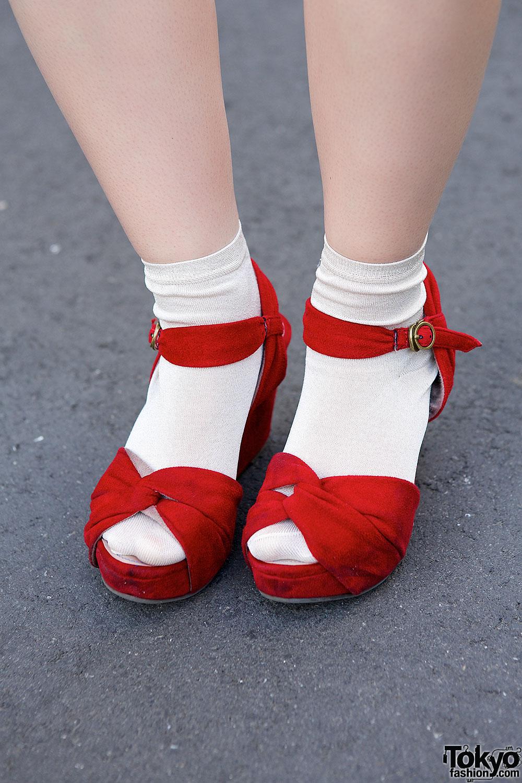 Print Dress Bonobos Tote Bag Amp Platform Sandals In Harajuku