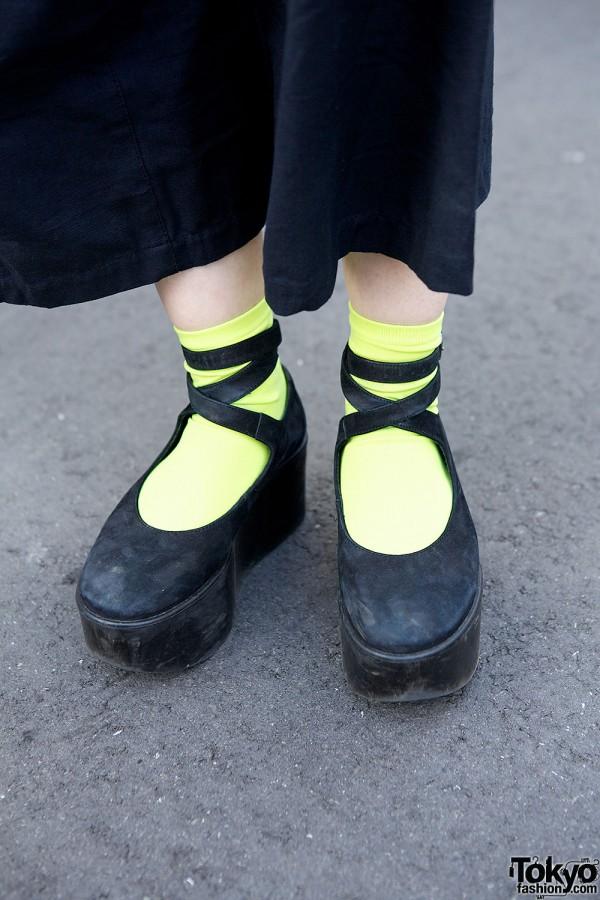 Tokyo Bopper shoes & neon socks