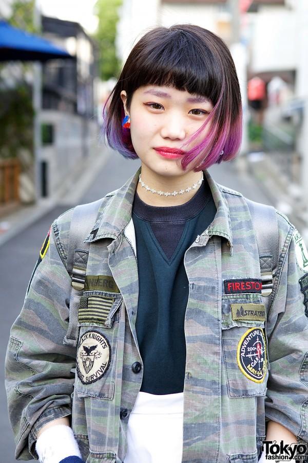 Dip dye short hairstyle