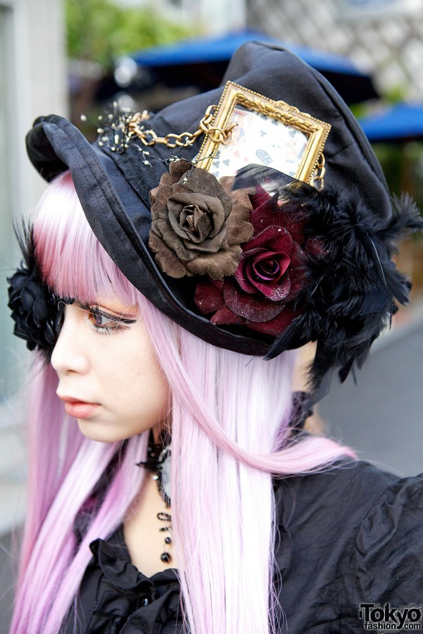 Handmade gothic hat in Harajuku