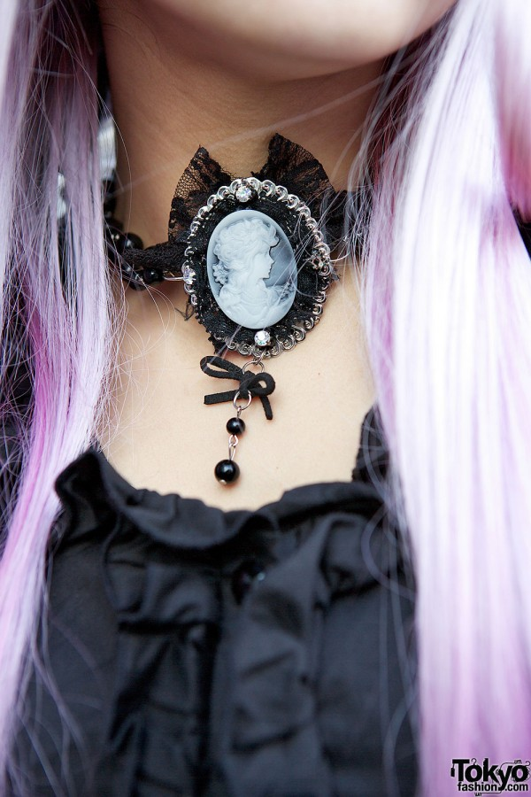 Gothic cameo necklace